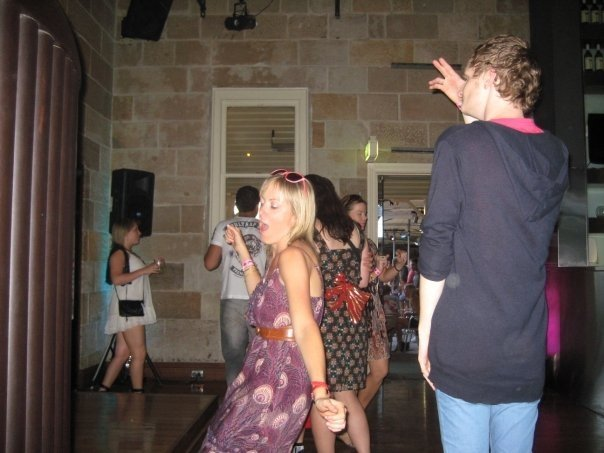 At my skinniest...somewhere dancing in 2009